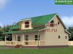 Проект дома 10х11 из профилированного бруса