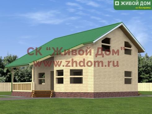 Дом из профилированного бруса 10х11 - цена, фото