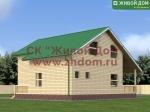 Проект дома 11x10 из профилированного бруса