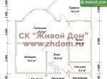 Планировка дома 11x10 из профилированного бруса