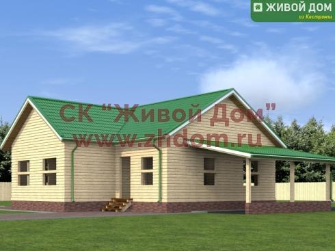 Проект дома из профилированного бруса 11х13