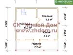 Планировка дома 6х6 из профилированного бруса