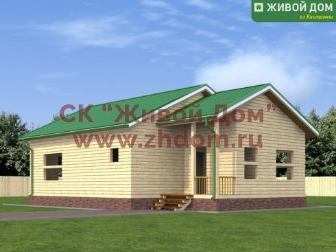 Проект дома из профилированного бруса 8х12