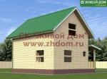 Фото и цена дома 6х8 из профилированного бруса