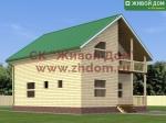 Проект дома 8х10 из профилированного бруса