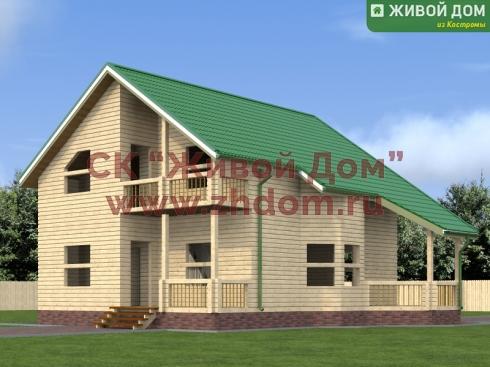 Дом из профилированного бруса 8х10 - цена, фото