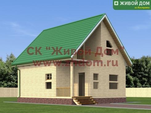 Проект дома из профилированного бруса 7х8