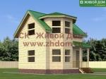 Проект дома 5х6 из профилированного бруса