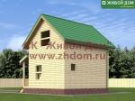 Фото и цена дома 5х6 из профилированного бруса