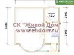 Планировка дома 5х6 из профилированного бруса