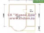 План дома 5х6 из профилированного бруса