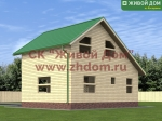 Фото и цена дома 7х8,5 из профилированного бруса