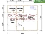 Планировка дома 7х8,5 из профилированного бруса