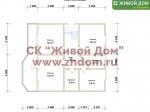 План дома 9х11 из профилированного бруса