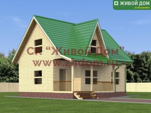 Проект дома из профилированного бруса 7х9,5