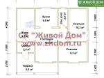 Планировка дома 7x9,5 из профилированного бруса