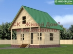 Проект дома 7х7 из профилированного бруса