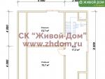 План дома 8х8 из профилированного бруса