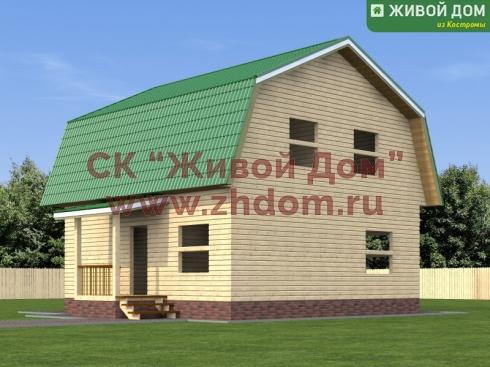 Дом из профилированного бруса 8,5x8,5