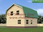Проект дома 8,5x8,5 из профилированного бруса