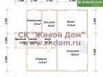 Планировка дома 8,5x8,5 из профилированного бруса