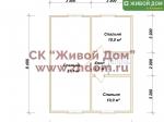 План дома 8,5x8,5 из профилированного бруса