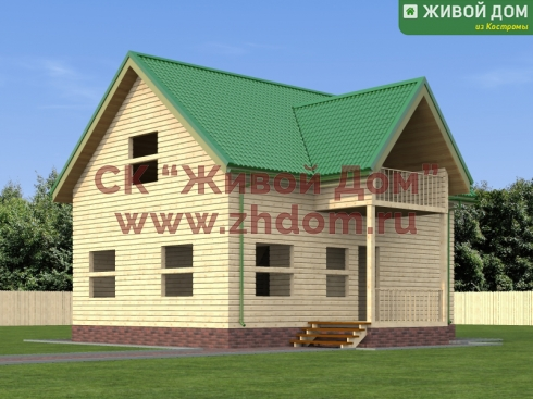 Дом из профилированного бруса 7х9 - цена, фото
