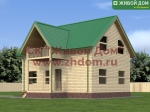 Проект дома 7х9 из профилированного бруса