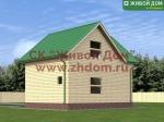 Проект дома 6х8 с балконом и террасой - планировка, цена, фо.