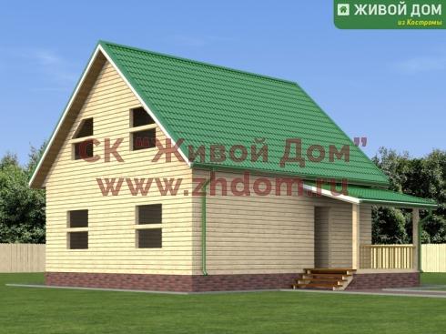 Дом из профилированного бруса 8х8,5 - цена, фото