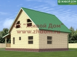 Фото и цена дома 8х8,5 из профилированного бруса