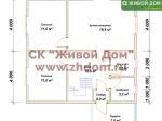 Планировка дома 8х8,5 из профилированного бруса