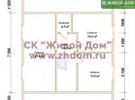 План дома 8,5x10,5 из профилированного бруса
