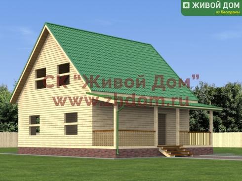 Дом из бруса 8х8,5 фото
