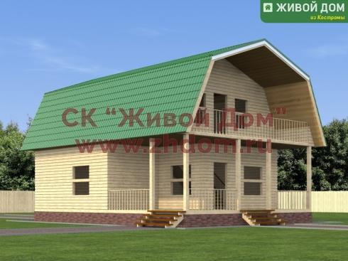 Проект дома из профилированного бруса 8х11