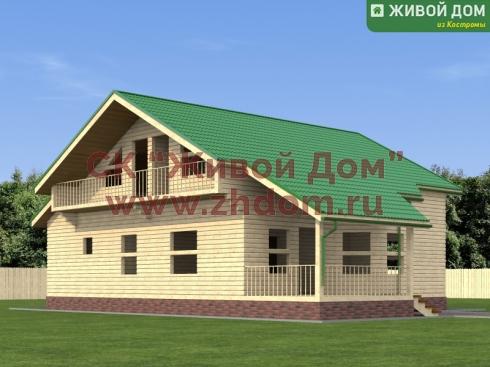 Проект дома из профилированного бруса 10х11
