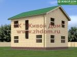 Проект дома 8х9 из профилированного бруса