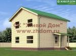 Фото и цена дома 8х9 из профилированного бруса