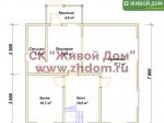 Планировка дома 8х9 из профилированного бруса