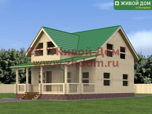 Проект дома из профилированного бруса 9х12,5