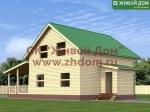 Фото и цена дома 9х12,5 из профилированного бруса