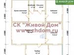 Планировка дома 9х12,5 из профилированного бруса