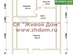 План дома 8х11 из бруса
