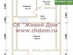 План дома 8х11 из профилированного бруса
