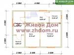 Планировка дома 6х8 из профилированного бруса