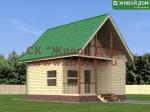 Проект дома 6х7,5 из профилированного бруса