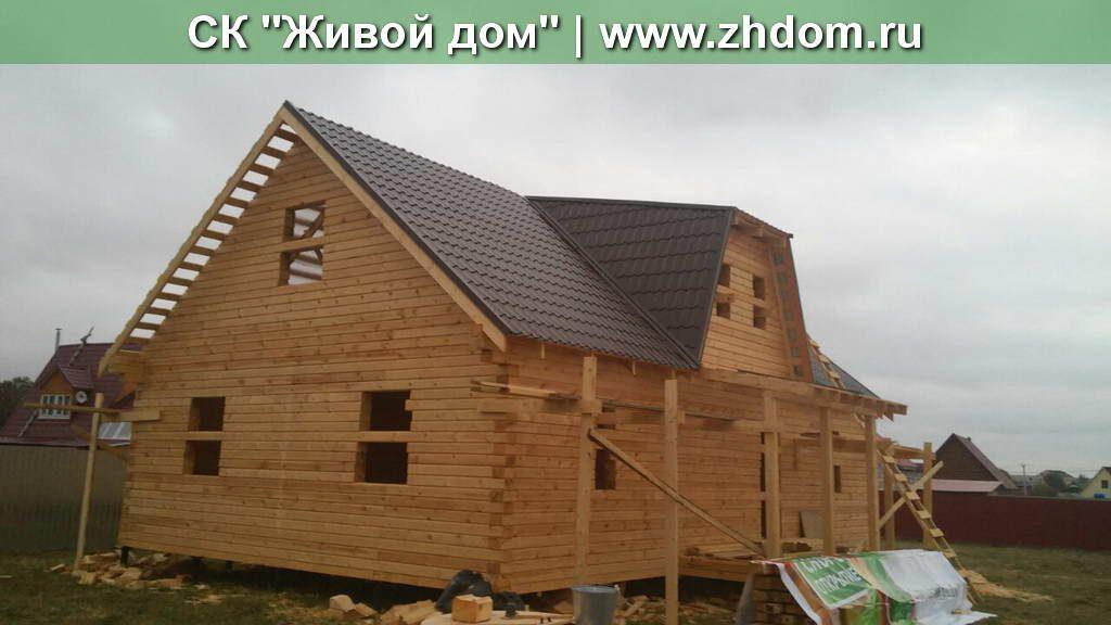 Дом из бруса размером 9х12 м